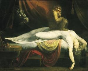 «Nachtmare», Johann Heinrich Füssli, 1781. Kilde: Wikimedia Commons