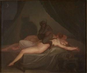 «Mareridt». Nicolai Abildgaard, 1809. Kilde: http://www.sorokunstmuseum.dk/samlingen/soeg_i_samlingen/vks-00-0050
