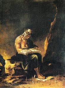 «Heksen» av Salvator Rosa, ca. 1646. Kilde: Wikimedia Commons