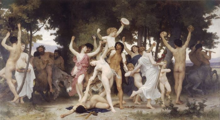 «The Youth of Bacchus» av William Adolphe Bouguereau, 1884. Kilde: Wikimedia commons