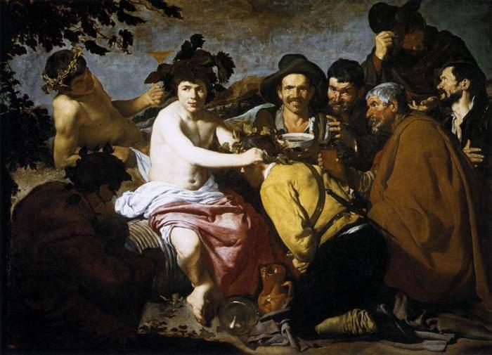 «Bacchus' seier» av Diego Velázques, ca. 1629. Kilde: Wikimedia Commons