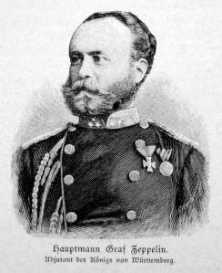 Ferdinand von Zeppelin, ca. 1865–866. Kilde: Wikimedia Commons