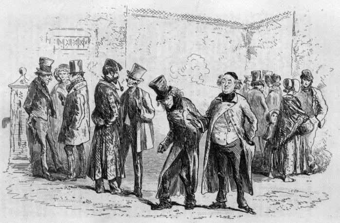 Illustrasjon fra førsteutgaven av Little Dorrit. Kilde: Wikimedia Commons/Archive.org