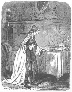 Miss Havisham og Pip fra «Great Expectations». Ill.: John McLenan. Kilde: Wikimedia Commons/The Victorian Web