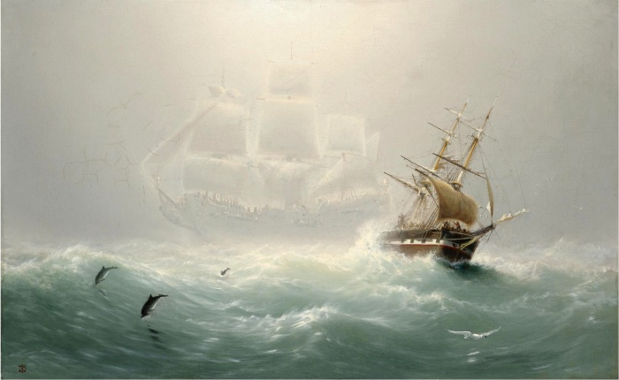 «The Flying Dutchman», Charles Temple Dix, ca 1860. Kilde: Wikimedia Commons